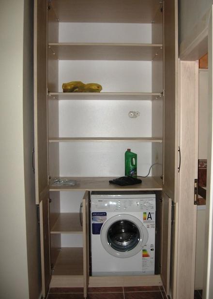Banyonuz dar mı ? çamaşır makinesinin üzerine dolap yaptırabilirsiniz