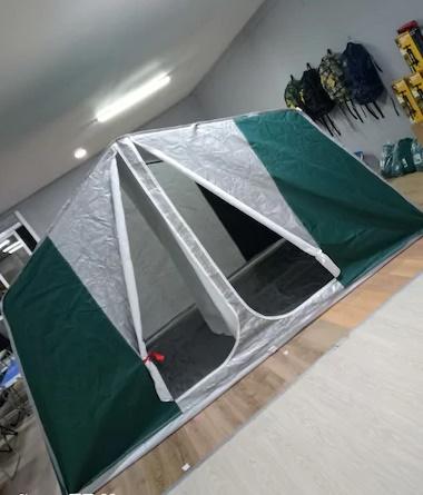 bir kaç kez kullanılmış iki odalı kamp plaj çadırı